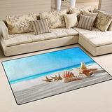 UMIRIKO Starfish Beach Summer Tropical Laundry Collection Area Rug Non-Slip Floor Rug Doormat for Bathroom Bedroom Decor 60 x 39 in 20232252