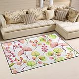 UMIRIKO Ginkgo Flowers Foral Spring Summer Laundry Collection Area Rug Non-Slip Floor Rug Doormat for Bathroom Bedroom Decor 60 x 39 in 20231873