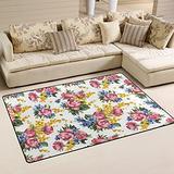 UMIRIKO Flowers Foral Spring Summer Laundry Collection Area Rug Non-Slip Floor Rug Doormat for Bathroom Bedroom Decor 60 x 39 in 20231854
