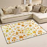 UMIRIKO Yellow Flowers Foral Spring Summer Laundry Collection Area Rug Non-Slip Floor Rug Doormat for Bathroom Bedroom Decor 60 x 39 in 20231870