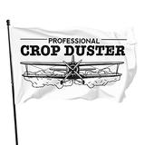 Professional crop duster outdoor flag, home garden flag, breeze flag, american flag, decorative flag, flag polyester with brass ring 3 x 5 feet flag