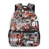 Genshin Impact Backpack Game Ganyu Klee Hu Tao Patterns School Backpack Children School Bag Boys Girls High Capacity Canvas Travel Shoulders Bags Daypack Waterproof