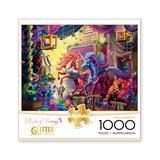 Buffalo Games Puzzles - Flights of Fantasy Twilight Marketplace Glitter Edition 1000-Piece Puzzle