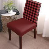 Dining Chair Covers, Stretch Protectors Slipcovers Black Red Buffalo Plaid Removable Washable Seat Cover for Home Living/Dining Room Party Hotel Country Farmhouse Style