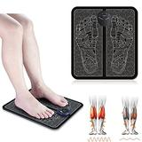 Pro Electrode Foot Stimulator 2021, Leg Reshaping Foot Massager Machine, Portable Electric Massage Mat, 6 Modes 9 Intensity, Improves Leg Blood Circulation Pain Relief (Battery)