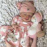 ALLWIN 47cm Reborn Baby Dolls,Vinyl Artificial Reborn Baby Doll 18 Inches, Newborn Reborn Doll Handmade Baby Silicone Full Body Realistic Handmade Toddler Sleeping Doll Gifts Toys for 3 Year Old