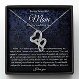 Double Heart Necklace, To Mom On My Wedding Day, Mother Of The Bride Gift From Daughter, Mother Of The Bride Necklace From Bride, Mom Of