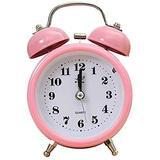 ZHZHUANG Alarm Clock Portable Alarm Clock Classic Silent Double Bell Alarm Clock Quartz Movement Bedside Night Light Wake-Up Clock