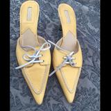 Michael Kors Shoes | Michal Kors Size 9 (8.5) Leather Yellow Mules | Color: Yellow | Size: 8.5