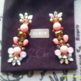 J. Crew Jewelry   J. Crew Bubble Burst Flower Earrings  Nwt  Pink...   Color: Gold/Pink   Size: 3 H X 1 Width