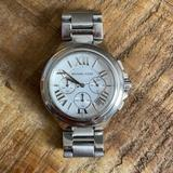 Michael Kors Accessories   Michael Kors Bradshaw Silver Watch With White Face   Color: Silver   Size: Os