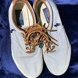 Polo By Ralph Lauren Shoes   Polo Canvas Sneakers Gray Size 8w W Leather Laces   Color: Brown/Gray   Size: 8