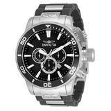Invicta Men's Corduba Quartz Watch with Stainless Steel, Polyurethane Strap, Black, Silver, 28 (Model: 33654)