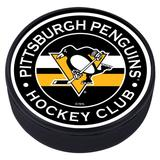 """""""Pittsburgh Penguins Striped Hockey Puck"""""""