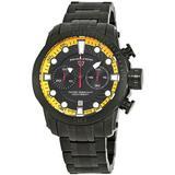 Seagate Chronograph Watch -ya - Black - Swiss Legend Watches
