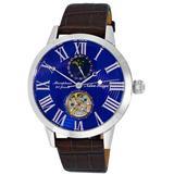 Ak2269 Automatic Blue Dial Watch -bu - Blue - Adee Kaye Watches