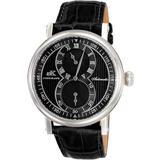 Ak5665 Automatic Black Dial Watch -bk - Black - Adee Kaye Watches