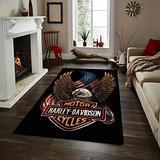 """Harley Rug, Area Rugs for Living Room, Bedroom Rug, Home Decor Rug, Harley Davidson Gifts, Carpet, Rug, Modern Rug, Popular Rug,Themed Rug, Rug for Living Room Hrly30.3(47""""x70"""")=120x180cm"""