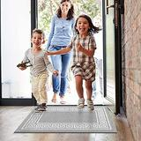 """Pauwer Hallway Runners Rug 24""""x36"""" Non Slip Washable Entry Rug Non-Shedding Stain Resistant Accent Distressed Throw Rugs Absorbent Kitchen Rug for Door Mat Kitchen Laundry Room Entryway Hallways"""