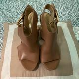 Michael Kors Shoes | Michael Michael Kors Womens Josephine Wedge Peep | Color: Tan | Size: 6