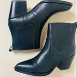 J. Crew Shoes | J.Crew Cowboy Booties Black Size 7 - New In Box | Color: Black | Size: 7