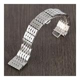 DFKai1run Stainless Steel Strap, 20mm 22mm 24mm Stainless Steel Watchband Silver Watches Strap Men Women Adjustable Bracelet + 2 Spring Bars Fashion Sports (Size : 20mm)