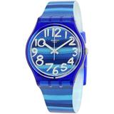 Linajola Dial Plastic Unisex Watch Gn237 - Blue - Swatch Watches