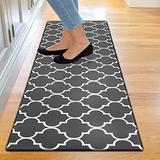 "Kitchen Mat Cushioned Anti-Fatigue Floor Mat, Waterproof Non-Slip Kitchen Rug Standing Mat Ergonomic Comfort Floor Mat Rug for Kitchen, Home, Office, Sink, Laundry, Desk (17.7""x59"", Black Trellis)"