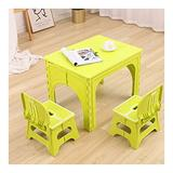 LIANGJUN Children's Table Chair Sets for Kids Kindergarten Plastic Foldable Portable Outdoor Activity Art Plastic Light Weight, 3 Colors (Color : Green)