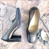 Gucci Shoes | Gucci Leather Square Toe Pumps Metallic Brown | Color: Brown | Size: 8