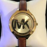 Michael Kors Accessories   Michael Kors Slim Runway Ladies Watch   Color: Brown/Gold   Size: Os