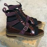 Free People Shoes | Free People Mandi Lace Up Boot | Color: Black/Purple | Size: 10