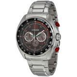 Wdr Eco-drive Black Dial Watch -54e - Metallic - Citizen Watches