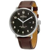 The Canfield Black Dial Leather Watch - Black - Shinola Watches