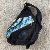 Adidas Bags | Adidas Spring Load Sling Backpack One Strap Splat | Color: Black/Blue | Size: Os