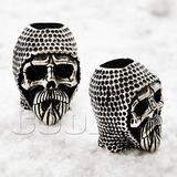 CooB EDC Paracord Bead Beads, Beard Bead, Knife Lanyard Bead Charm Templar Skull Knight. Metal Hand-Casted Beads Charms for Paracord Bracelet, Knife Lanyard 1pcs/Lot (Templar Skull S)