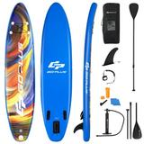 Costway Inflatable Stand Up Paddle Board with Backpack Aluminum Paddle Pump-M