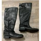 Jessica Simpson Shoes | Jessica Simpson Rinne Black Leather Knee High Boot | Color: Black | Size: 6.5