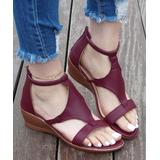 ROSY Women's Sandals Red - Red Strappy Wedge Sandal - Women