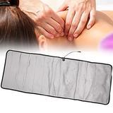 Shiatsu Heating Massage Cushion, Portable Vibrating Kneading Massage Mat, Heating Massage Pad for Relax, Home Use Massage Mattress, Foldable Massage Pad (US)