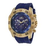 Invicta Pro Diver Men's Quartz Gold Case Blue White Dial - 21963