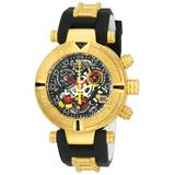 Invicta Disney Limited Edition Mickey Mouse Women's Quartz 38mm Gold Case Black Gunmetal Silver Dial - Model 22737