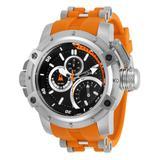 Invicta Men's 30384 Coalition Forces Quartz Multifunction Black Orange Dial Watch
