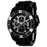 Pre-Owned Invicta Pro Diver Scuba Quartz Mens Watch - 45mm Stainless Steel Case Stainless Steel/Silicone Band Black (22433)