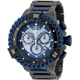 Invicta Bolt Herc Men's Watch w/ Metal Mother of Pearl Oyster Dial - 53mm Black Dark Blue (35576)
