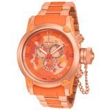 Invicta Russian Diver Quartz Watch - Orange case with Orange tone Stainless Steel Polyurethane band - Model 11615