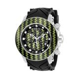 Invicta Reserve Lotus Mens Quartz Stainless Steel Green Yellow Case Green Yellow Black Dial - 22145