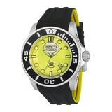Invicta Pro Diver Liquid Dial Mens Automatic 47mm Stainless Steel Case Silver Yellow Dial - Model 22990