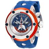 Invicta Men's 28420 Marvel Quartz 3 Hand Blue Silver Red Dial Watch