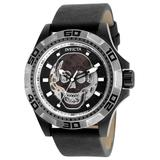 Invicta Disney Limited Edition Pirates of the Caribbean Men's Automatic - 48mm Stainless Steel Case Black Dial with Black Leather Strap - Model 25229
